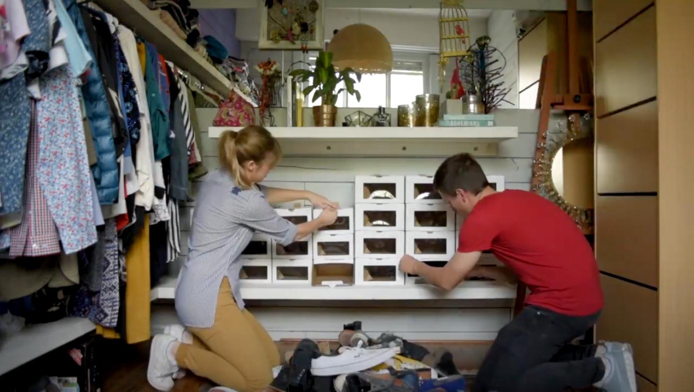 Caja Organizadora de Zapatos, primer uso.